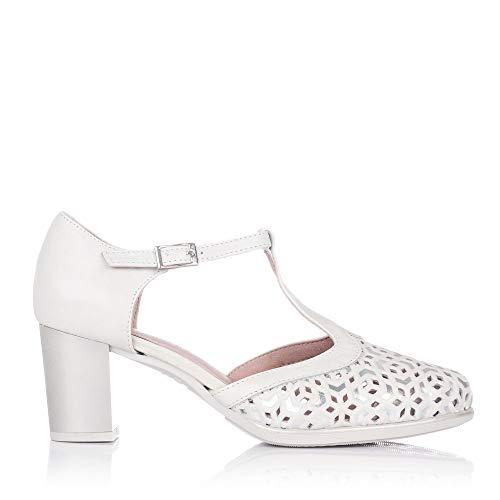 PITILLOS 6052 Zapato ASANDALIADO Tacon Alto Mujer Hielo 41