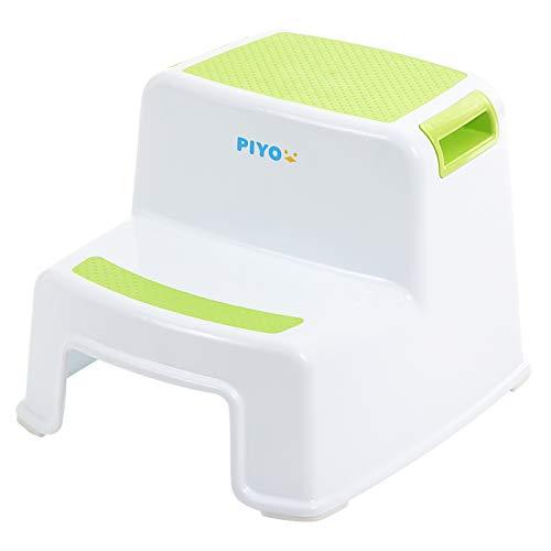 ピヨ(PIYO) 踏み台 子供 子ども 2段 ステップ台 幼児 こども トイレ おしゃれ (グリーン)