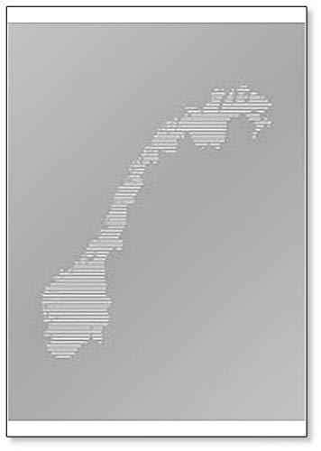 Imán para nevera con diseño de mapa de Noruega