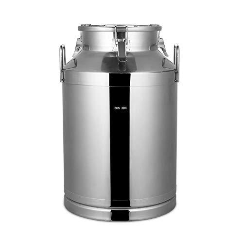 LJJ Jarra de Leche de Acero Inoxidable, contenedor de Hielo, Barril de Vino, recipientes de Grano, Cubo de Jarra para el Almacenamiento de Leche y fluidos de Vino (tamaño : 40L)