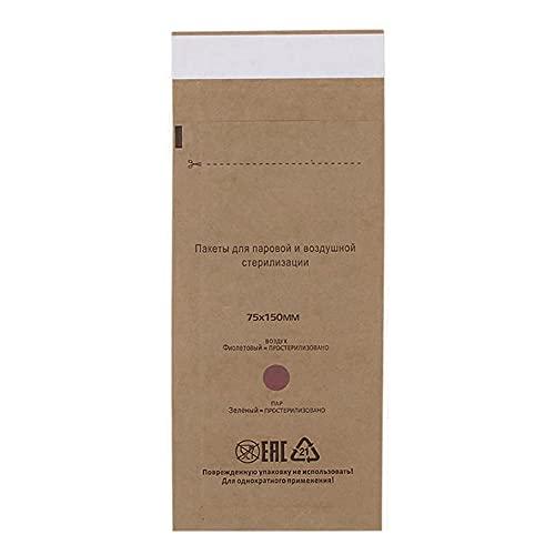 Sterilisationsbeutel, 100Pcs Sterilisator Tasche 7.5 x 15 cm Einweg-Nageltasche Gel Ausrüstung Sterilisator Beutel Kosmetik Zubehör für Reinigungsausrüstung