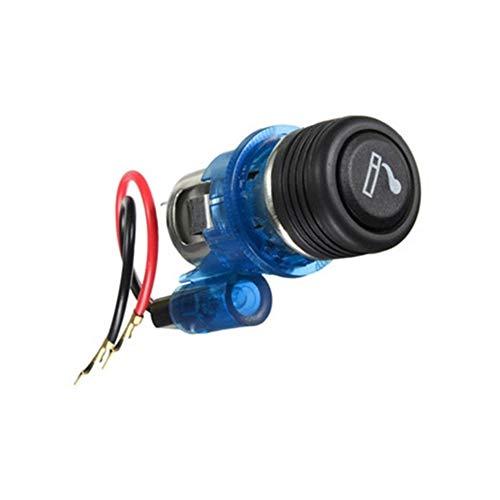 N\A Auto Leichter Universal-Zigarettenanzünder-heißen wasserdicht for Fahrzeug 12V Motorrad-Auto-Boots-Zigarettenanzünder-Buchse Out-Stecker qualitätssicherung (Color Name : Blue)