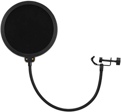 FMU Mikrofon Popschutz Studio Mikrofon Absorber-Filter Mic Schirm Runde Form Wind Pop Filter für Blue Yeti, MXL, Audio Technica und andere Mikrofone