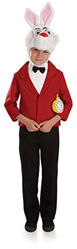 Fun Shack Déguisement Rouge pour Enfant Costume de Lapin Blanc pour Garçon - Taille L