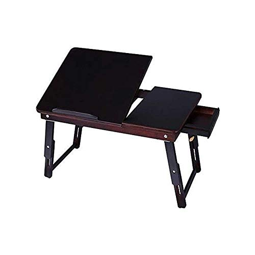 AMOYE Lap Desk for Laptop Adjustable Portable Breakfast Serving Bed Tray Sofa Tray Multifunctional Table with Tilting Top and Drawer
