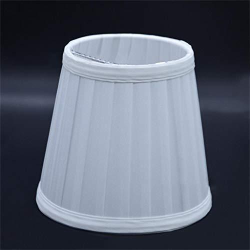 Wyxhkj Lampenschirm,Europäischer Lampenschirm Vintage Stoff Plissee Lampenschirm Warme Atmosphäre Dekoration Lampenschirm für Schreibtischlampe, Wandlampe, Stehlampe und Nachttischlampe (silber)