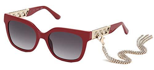 Guess gafas de sol GU7691 66B gafas de Mujer de color Rojo, lente de humo, tamaño 54 mm