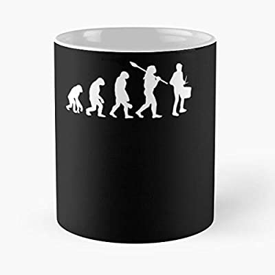 Evolution Of Snare Drum Kit Player Classic Mug Funny Quote Coffee Christmas Gifts, Unique Or Birthday Gifts Cup White, 11 Oz.