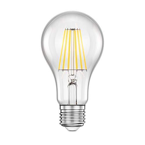 ledscom.de E27 LED Lampe Filament A70 11W =95W warm-weiß 1500lm A++ für innen und außen