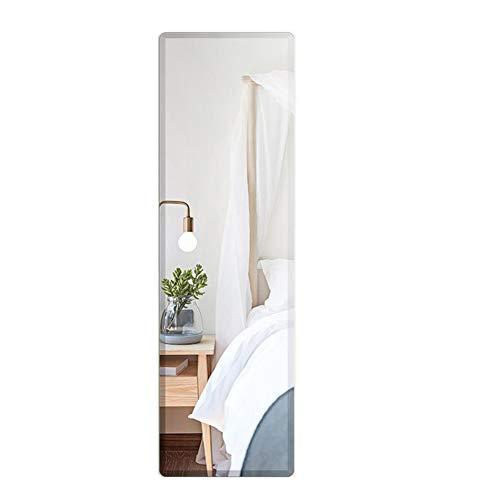 Volledige lengte wandgemonteerde spiegeltegels van glas, flexibele frameloze glazen spiegel, past op slaapkamers, woonkamers, kleedkamers, achter deuren