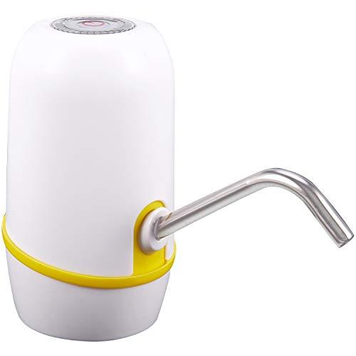 Milkvetch Botella de Agua de Bombeo de Carga Eléctrica Soporte de Agua Presión de Agua Pura Grifo de Agua Blanco