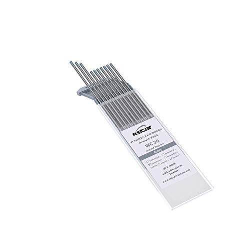 WC20 TIG Soldadura Electrodos de Tungsteno Contienen 2% Ceriado (Punta Gris)electrodos de tungsteno Ø1,6X175mm 10 electrodos -no-radioactivos