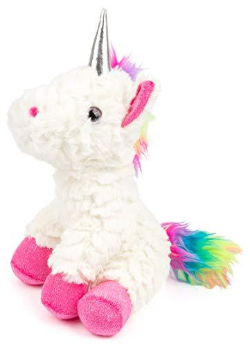 Small Foot-11478 Unicorno di Peluche Small Foot, Alto 23 cm, Bianco, criniera Arcobaleno, Animale in Stoffa Giocattoli, Multicolore, 11478