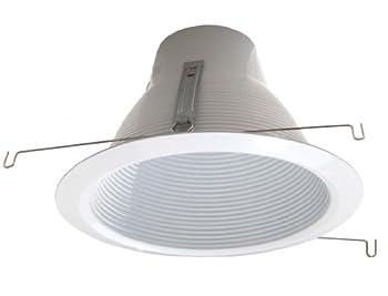 6-Pack-6  Deep Self Flange Air-Shut Baffle Trim for Line Voltage Recessed Light-White