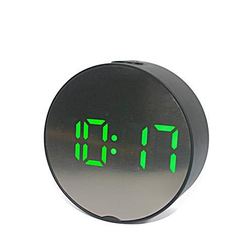 KBDCP Spiegel LED wekker digitale klok snooze nachtlampje thermometer Elektronisch zwart tafel tafelklokken wooncultuur