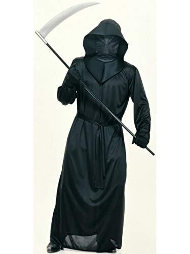 Rubie's - Costume per travestimento da Morte, Uomo, incl. tunica con cappuccio e maschera, Taglia unica (38/40)