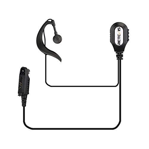 Retevis Walkie Talkie Auricular G-forma Pinganillo Compatible con Ailunce HD1 DMR Radio Retevis RT648 RT82 RT87 RT29 RT83 RT647 Walkie Talkies (1 Pack)