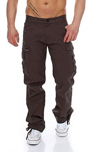 Big Seven Brian Cargo Hose Comfort Fit Herren Jeans, Hosengröße:W36/L34, Farbe:Braun (Wren)