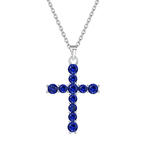 White Gold Plated 925 Sterling Silver Pendant Necklace