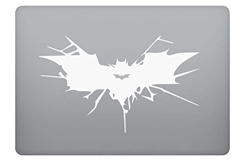 Fledermaus Symbol Zeichen Aufkleber Laptop Sticker Folie geeignet für alle neuen und Alten Apple MacBook Modelle (11 Zoll, 12 Zoll, 13 Zoll, 15 Zoll, 16 Zoll, 17 Zoll)