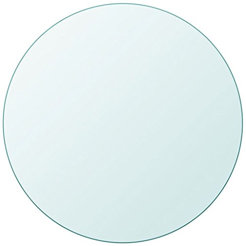 Fesjoy Tablero de Mesa Cristal Templado Redondo 600 mm 8 mm