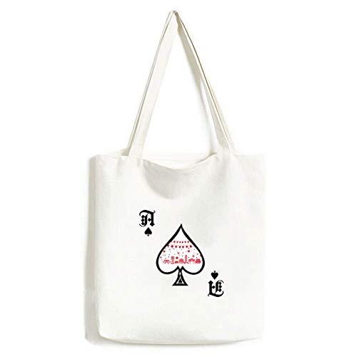 Laterne rot chinesisches Papier Schnittmuster Handtasche Craft Poker Spaten waschbare Tasche