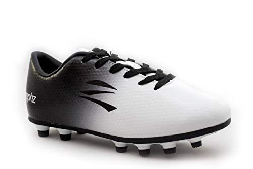 zephz Wide Traxx White/Black Soccer Cleat Adult 9