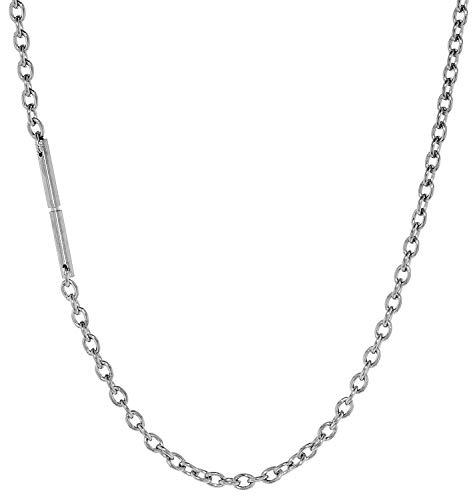 Ernstes Design Halskette aus Edelstahl AK1-45 45 cm