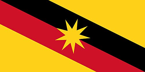 magFlags Drapeau XL+ Sarawak | Drapeau Paysage | 2.4m² | 110x220cm