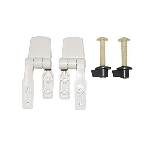 Jabsco 29098-1000 - Set di cerniere per sedile in legno, compatto