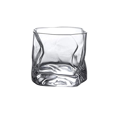 SUTIA Vasos de vidrio para beber, vasos de cristal de colores para bebidas espirituosas, vasos de whisky, vasos de café transparentes
