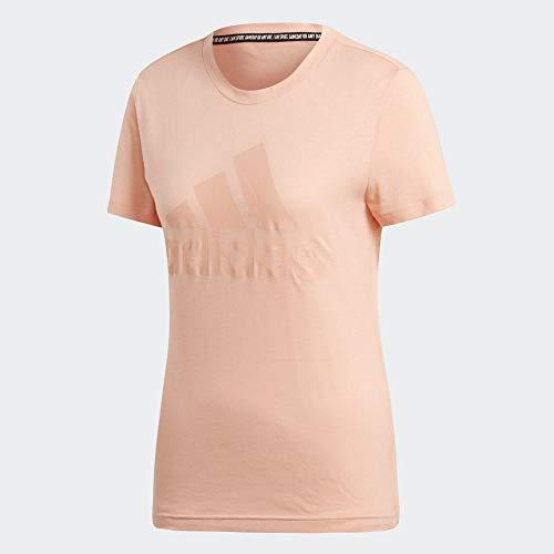 adidas Performance EB3797 T-Shirt & Polo Donne Rosa - L - T-Shirt Maniche Corte
