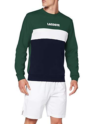 Lacoste Sport Sh1538 Maglione, Vert/Marine-Blanc, 5 Uomo