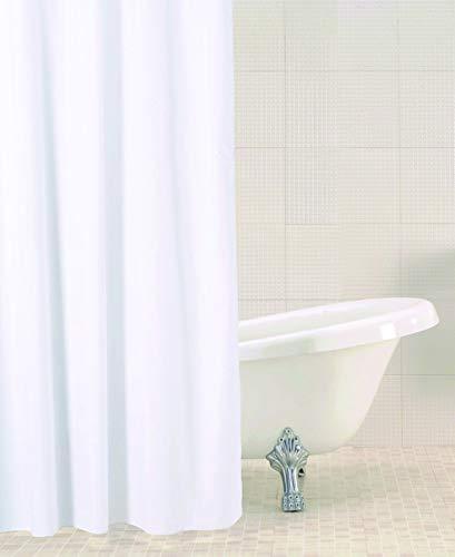 Sabichi Fester Duschvorhang, Weiß