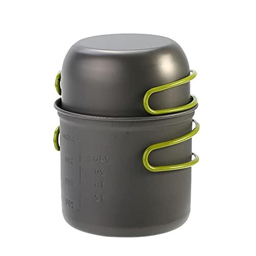 YJX - Juego de utensilios de cocina para viajes para 1 a 2 personas con agarre para mesa de picnic