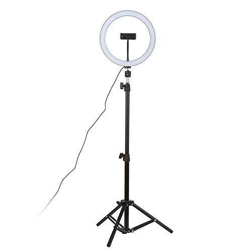 Galapara Luz de Anillo DC5V 7W LED Regulable con Soporte 3-Colors 360 Rotary USB Powered Streaming Light para Vlogging Youtube Video Shooting Maquillaje Selfie, 10 niveles Brillo ajustable Regulable