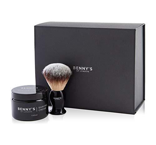 Crème de Rasage et Blaireau - Benny's of London POMEGRANATE NOIR SCENT une odeur qui laissera votre peau fraîche