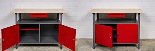 Kreher XL Set mit 2 Werkbänken aus Metall. Mit zwei abschließbaren Türen, Schublade und Gewinde...
