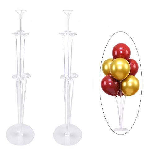 H-O Soporte para globos, 2 juegos de globos transparentes, 14 globos de colores, utilizados para la decoración de graduación/boda/fiesta de cumpleaños/festivales