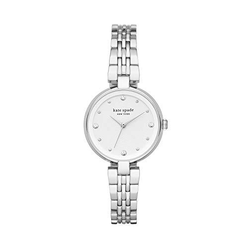 Kate Spade Women's Annadale Quartz Watch with Stainless Steel Strap, Silver, 5 (Model: KSW1667)