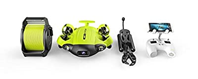 QYSEA FIFISH V6s in Industrial Case Underwater ROV Omnidirectional Movement 4K UHD Camera VR Headset Real-Time Control, LED, True 360°, Ultra Wide Angle, Posture Lock, Slow Motion, Underwater Drone