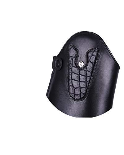 QHP austauschbarer Dressurbogen/Schaftoberteil für Reitstiefel Sasha Leder mit Klettverschluss Verschiedene Designs (Croco Matt)