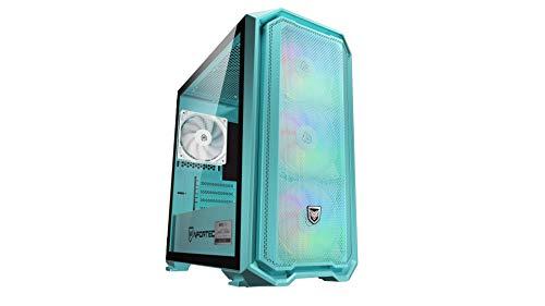 Nfortec Krater Mini - Torre Gaming RGB Micro-ATX con Frontal Mallado - Edición Limitada en Color Azul Turquesa