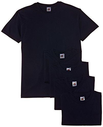 Fruit of the Loom Valueweight Tee, 5 Pack T-Shirt, Bleu (Navy), XL (Lot de 5) Homme