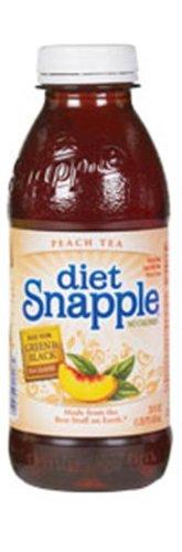 Snapple Diet Peach Tea, 20-Ounce Bottles (Pack of 24)