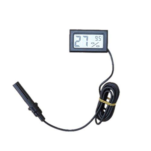 Tongshi Mini termómetro higrómetro Temperatura Pantalla LCD Humedad Medidor Digital (Negro)