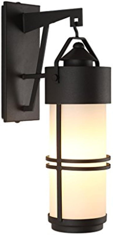 Retro im Freien wasserdichte Wand-Lampen-Patio Einfache Glas-Gang-Korridor im Freien Balkon-Wand-Lichter