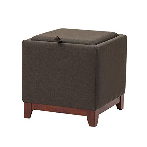 LSLS Footstools Sofa Stool Low Folding Storage Chest Ottoman Footstool Portable Picnic Seat Versatile Space-saving Coffee Table Ottomans