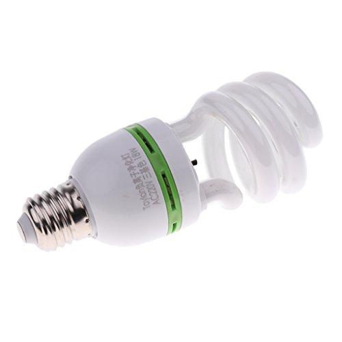 MagiDeal E27 Ampoule Spirale Lumière Anion Purificateur d'Air Double-tête en Plastique 220V - 18W