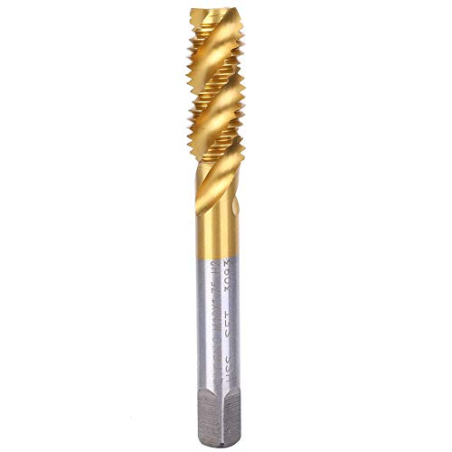M12x1.75mm Spiral Fluted Taps, High Speed Steel Screw Tap Set, Hand Drill Tool, High Cost Performance and Practicality, for Processing Stainless Steel, Steel Plate, Copper